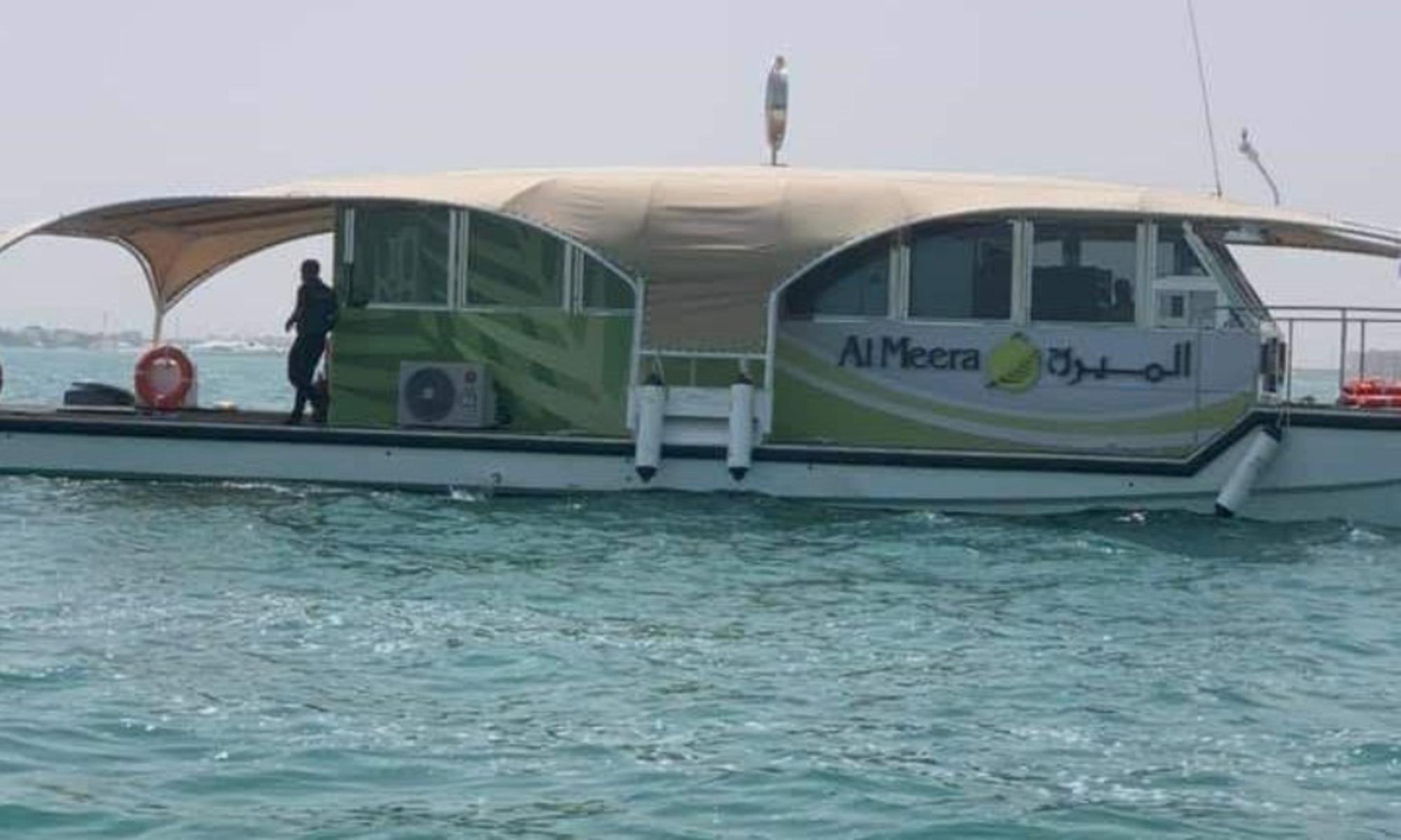 Un supermarché `` flottant '' pour les clients en mer à Doha
